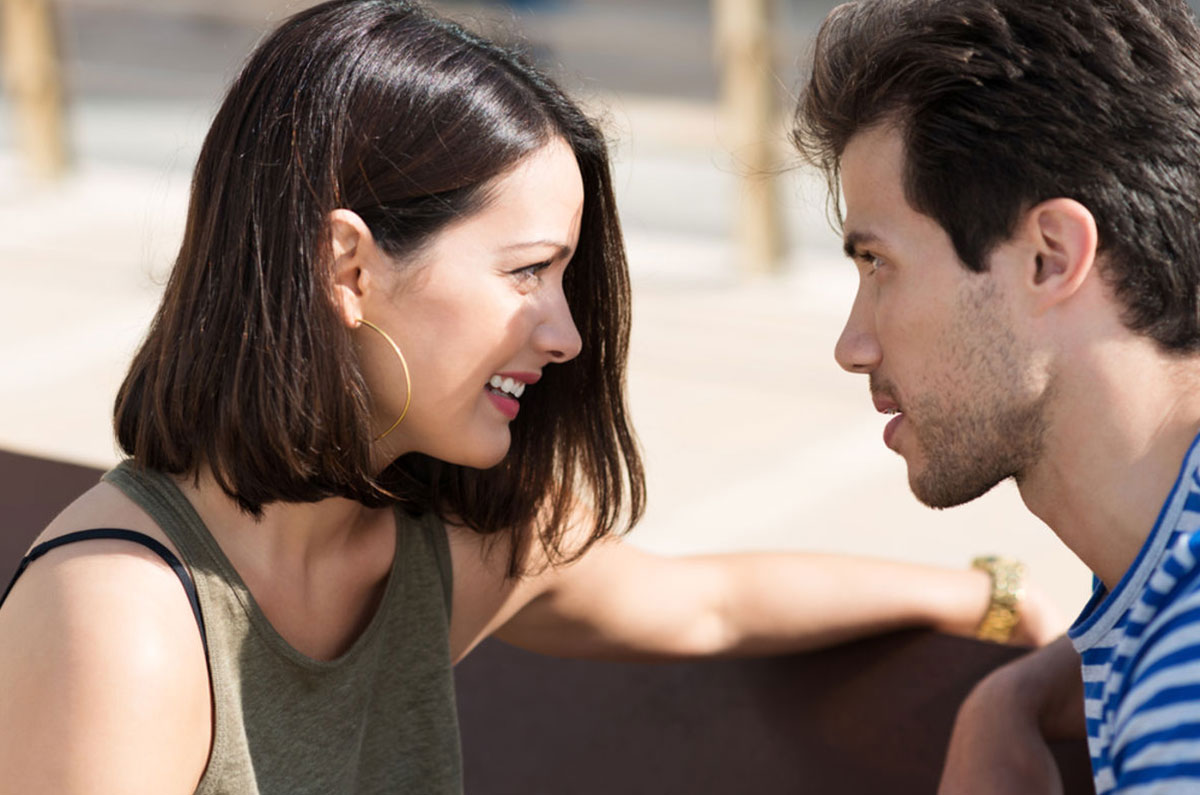 Eye contact with sexual attraction